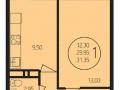 Новостройка, 31 м²